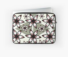 Flowers and triangular patterns by cocodes #laptop sleeve #redbubble http://www.redbubble.com/people/cocodes/works/21720517-flowers-and-triangular-patterns?p=laptop-sleeve