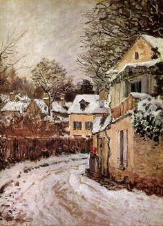 Impressionist Landscape, Post Impressionism, Landscape Paintings, Sisley Alfred, Winter Painting, Art Moderne, Renoir, Claude Monet, Winter Scenes