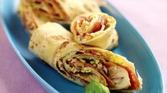 MatPrat - Lefserull Small Meals, Sausage, Tacos, Mexican, Lunch, Ethnic Recipes, Food, Wraps, Lunches