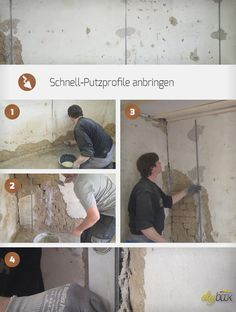 To rehabilitate plaster on the wall, it requires good preparation. We show how To rehabilitate plast Diy Projects To Sell, Diy House Projects, China Cabinet Makeovers, Update Kitchen Cabinets, Popular Paintings, Stone Crafts, Shipping Container Homes, Plaster, Home Remodeling