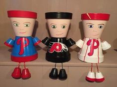 Phillies Pot People Planters for your Garden by GARDENFRIENDSNJ