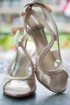 Love these Stuart Weitzman peep toe bridal heels! {Light Source Photography}