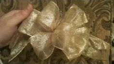 Crafts How to Make a Bow for wedding pews or reception chairs...This will save a lot of money