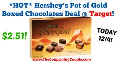 NEW Coupon makes for a GREAT deal at Target valid through TODAY!!! Be sure to head to the store and pick yours up!! *HOT* Hershey's Pot of Gold Boxed Chocolates Deal @ Target  Click the link below to get all of the details ► http://www.thecouponingcouple.com/hot-hersheys-pot-of-gold-boxed-chocolates-deal-target/ #Coupons #Couponing #CouponCommunity  Visit us at http://www.thecouponingcouple.com for more great posts!