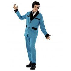 Disfraz de Rockabilly  Disfraces de Rockabillys para Adultos  Original Disfraz de Rockabilly Azul para hombre compuesto por chaqueta y pantalón. Ideal para tu fiesta de disfraces de carnaval originales o para tu fiesta de disfraces de los años 50. 20,00 €