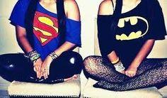 Batman or Superman ? Best Frieds, Swag, Batman Vs Superman, Best Friend Pictures, Best Friends Forever, True Friends, Bffs, Victoria, Cute