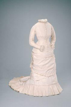 Wedding gown Date: 1879