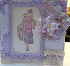 Cavendish Ladies in Lavender & Cream Arts And Crafts House, Arts And Crafts Supplies, Ladies In Lavender, Kanban Cards, Art Deco Dress, Shabby Chic Cards, Step Cards, Card Making Tutorials, Craft Activities