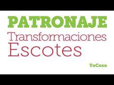 Patronaje: Transformaciones Varias de Escotes - YouTube