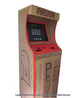 DIY Working Cardboard Arcade Game - http://unschoolme.blogspot.com ...