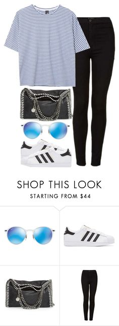 """""""OOTD - Kaiser Chiefs Gig"""" by elenaday on Polyvore featuring Ray-Ban, adidas Originals, STELLA McCARTNEY, Topshop and Boutique"""