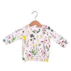 Wild Flower baby sweatshirt, organic baby clothes, baby sweater, toddler clothes, newborn clothes, baby girl clothes, baby girl sweatshirt