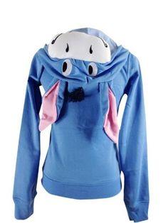 Stitch Pikachu Womens Casual Slim Fit Zip Up Hoodies Hooded Coats Jackets Tops | eBay