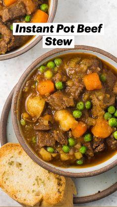 Instant Pot Beef Stew Recipe, Instant Pot Dinner Recipes, Best Beef Stew Recipe, Paleo Stew, Keto Beef Stew, Recipes Dinner, Fall Recipes, Dinner Ideas, Pressure Cooker Beef Stew