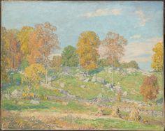 """Autumn"", Wilson H. Irvine (1869-1936), Oil on canvas, 32 x 40"", Art Institute of Chicago."