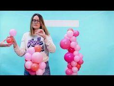 Como hacer Guirnalda Romántica - DIY  técnica desconstruido // DIY Contrasted balloon garland - YouTube