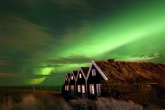 Northern lights over a turf house | Flickr - Photo Sharing!