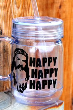 Awesome Duck Dynasty Mason Jar Tumbler Can be by Scrapaddict30, $13.00