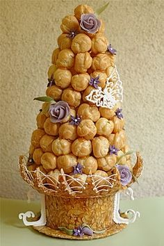 """This shall be my wedding """"cake"""". French flare all the way, croquembouche!"""