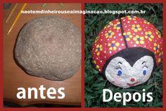 Não tem dinheiro use a imaginação!: DIY - Joaninha peso de porta