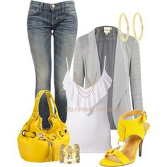 """""""Use the Color 'Yellow' Contest"""" by casuality on Polyvore"""