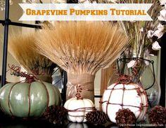DIY Grapevine Pumpkins