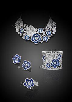 Parure by Carlo Palmiero - diamonds, sapphires