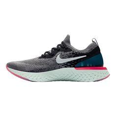 huge discount 0874b ceee3 Nike Women s Epic React Flyknit Running Shoes - Gunsmoke White Black