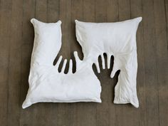 Artist Mathilde Roussel creates this quirky pillow