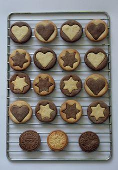 Biscuits chocolat et vanille ...