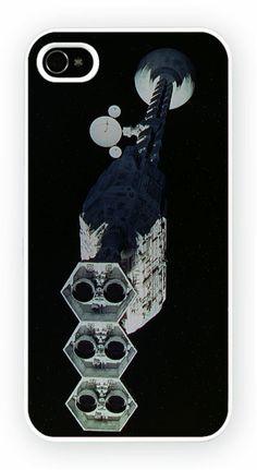 2001: A Space Odyssey - Spaceship Cas de telephone portable pour l'iPhone 4, 4S, 4, 5S, 5C et Samsung Galaxy S4 Retour couverture rigide - pas de telephone inclus Moule en polycarbonate dur couverture arriere avec l'image imprimee comme le montreCouleur impression directe est fondu et resistant aux rayures et offre une protection aux chocs et impactsSimple et facile snap sur l'installation d'un acces complet a la camera et portsGratuit Livraison dans le monde…