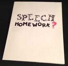 The Budget SLP: Speech Homework: 25 Alternatives to Speech Folders. Pinned by SOS Inc. Resources @sostherapy.