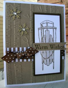 Suede Sled by calmag - Cards and Paper Crafts at Splitcoaststampers