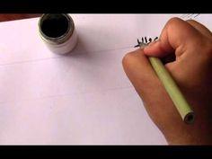 تعلم خط الرقعة 4 - YouTube