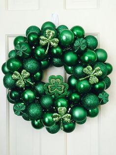 St. Patrick's Ornament Wreath  St. Patrick's by MemphisMomWreaths, $59, www.etsy.com/shop/memphismomwreaths