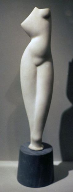 Alexander Archipenko; Female Torso; 1920; marble. The Metropolitan Museum of Art - New York, NY