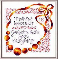 I Know Grandmas cross stitch pattern designed by Ursula Michael.