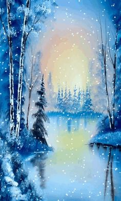 Download Animated 480x800 «Winter lake» Cell Phone Wallpaper. Category: Nature