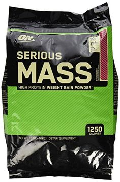 Optimum Nutrition Serious Mass Strawberry Protein Powder 12 Pounds >>> Visit the image link more details.