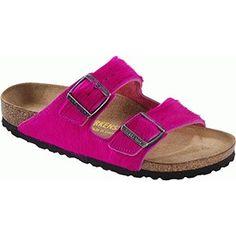 birkenstock arizona leather pink