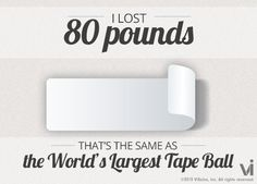 Use this cool website to see what your weight loss is equal to in a tangible object!!