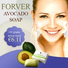 Avocado Soap - With pure avocado butter, the avocado soap has been prepared. To get a perfect cleansing, it is the best option. It is suitable for all skin types. Avocado Butter, Forever Living Products, 100 Pure, Aloe Vera, Ireland, Soap, Good Things, Pure Products, Irish