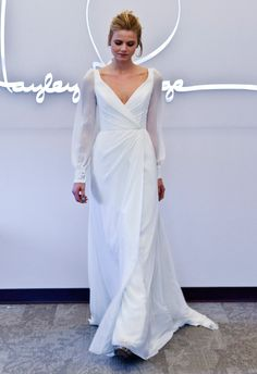 Cuff-Sleeved Wedding Dress | Blush by Hayley Paige Fall 2014 | The Knot Blog