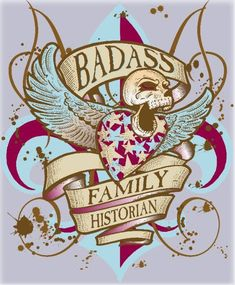 Bad Ass Family Historian Genealogy Quotes, My Ancestry, Roots And Wings, Historian, Badass, Funny Quotes, Christmas Ornaments, Holiday Decor, Funny Phrases