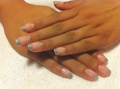glitter tip gel nails