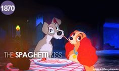 Day 5 favorite Disney kiss- I've always loved the lady and the tramp one lol :-)
