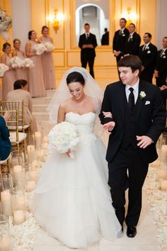Pink and Gold Wedding at Chateau Cocomar - Southern Weddings