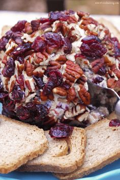 This cranberry pecan cheese ball combined creamy cheese with tart cranberries and crunchy pecans, making this the perfect shareable snack! Cranberry Cheese, Cranberry Recipes, Fall Recipes, Holiday Recipes, Baked Cheese, Creamy Cheese, Thanksgiving Appetizers, Thanksgiving Recipes, Christmas Appetizers