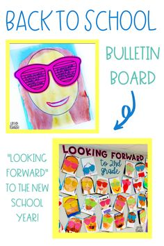 """A fun back to school writing activity for the first day or first week of school that also makes for a great back to school bulletin board! Students write or draw a picture of what they are """"looking forward to"""" in the new school year on paper sunglasses. There are writing templates included. Students also get to create a self-portrait. This is a great getting to know you activity as well and helps to build a strong classroom community from the start."""