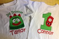 Yo gabba gabba applique birthday shirts